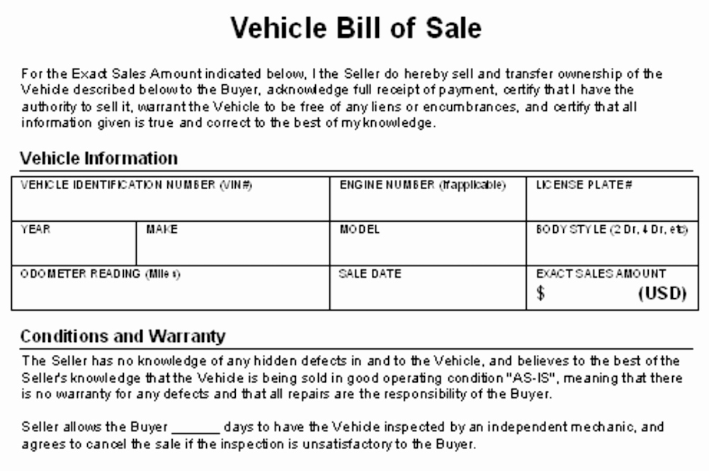 Contract for Selling A Car Luxury How to Write A Contract for Selling Your Car