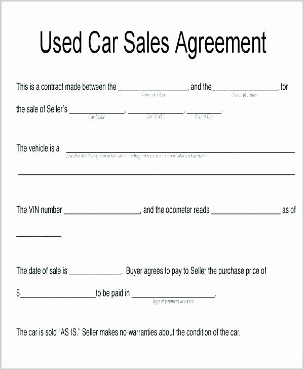 Contract for Selling A Car Luxury Selling Agreement Letter – Jagraj
