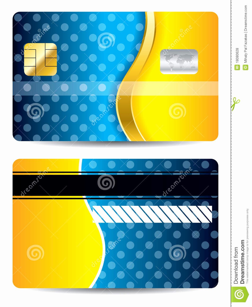 Cool Debit Card Designs Elegant Cool Blue and orange Credit Card Stock Vector