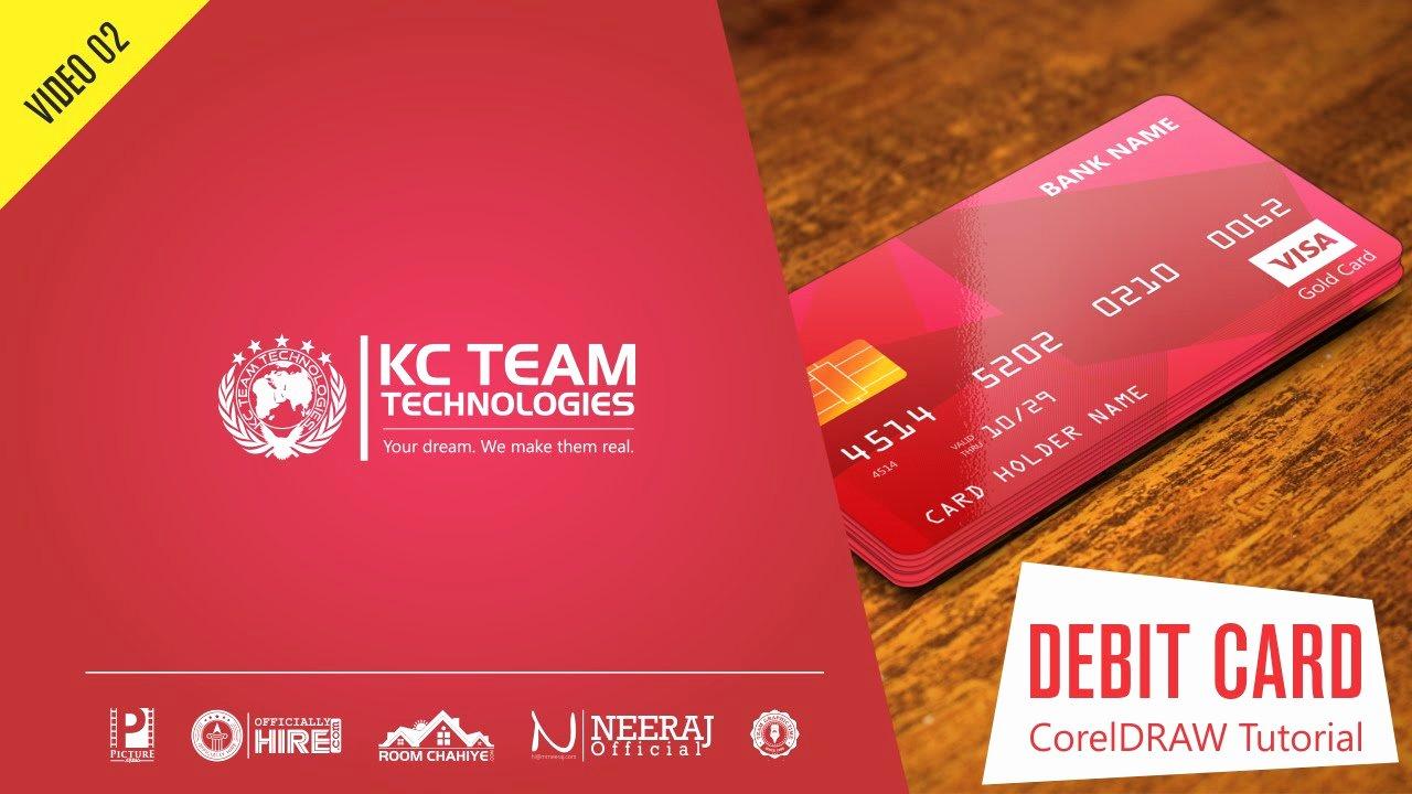 Cool Debit Card Designs Fresh Coreldraw Tutorial How to Design Credit or Debit Card In