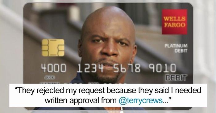 "Cool Debit Card Designs Fresh the Real Terry Crews Helps Woman Get ""terry Crews"" Debit Card"