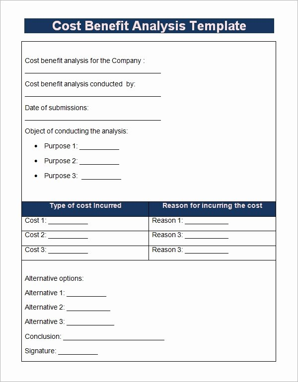 Cost Benefit Analysis Template Excel New Cost Benefit Analysis Template 13 Download Free