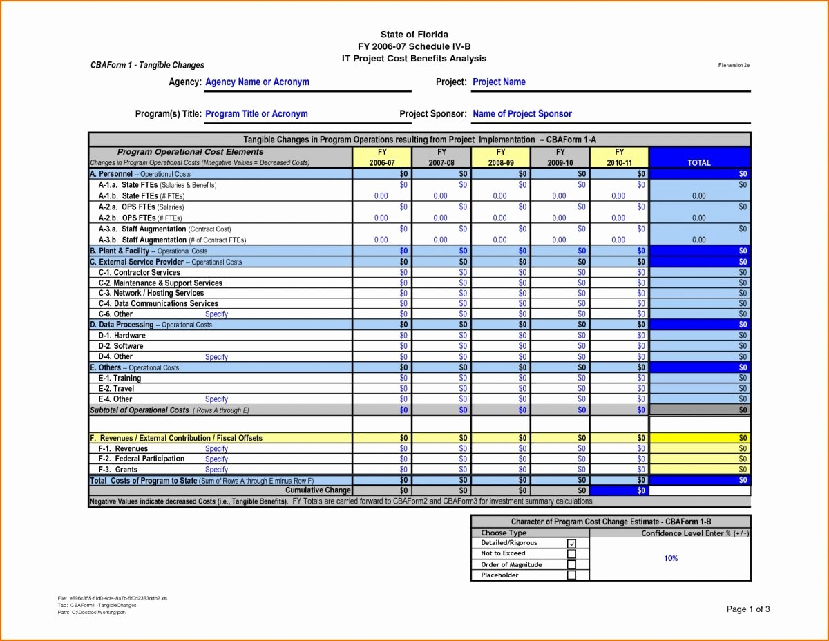 Cost Benefit Analysis Template Excel New Cost Benefit Analysis Template Excel 10 – Guatemalago