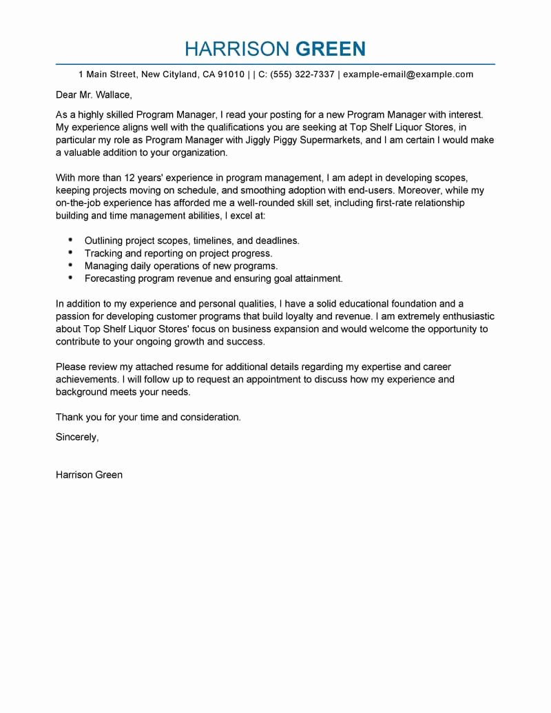 Cover Letter for Employment Best Of Best Management Cover Letter Examples