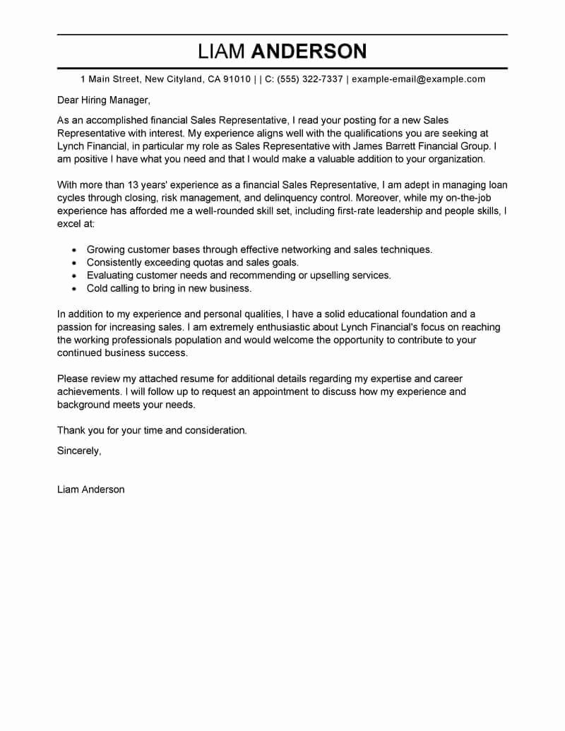 Cover Letter for Employment Fresh Free Cover Letter Examples for Every Job Search