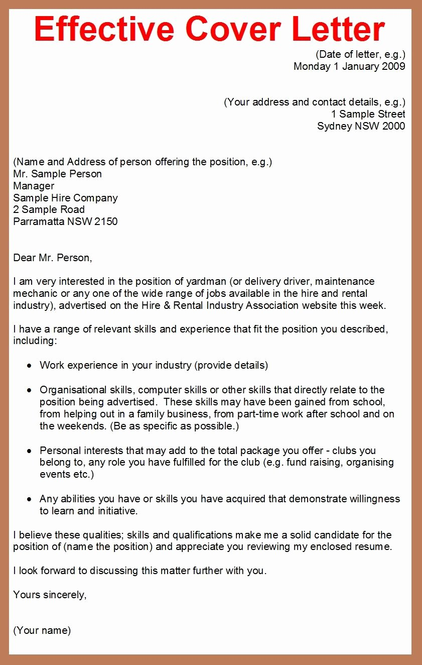 Cover Letter for Employment Lovely How to Write A Cover Letter for A Job Application Google