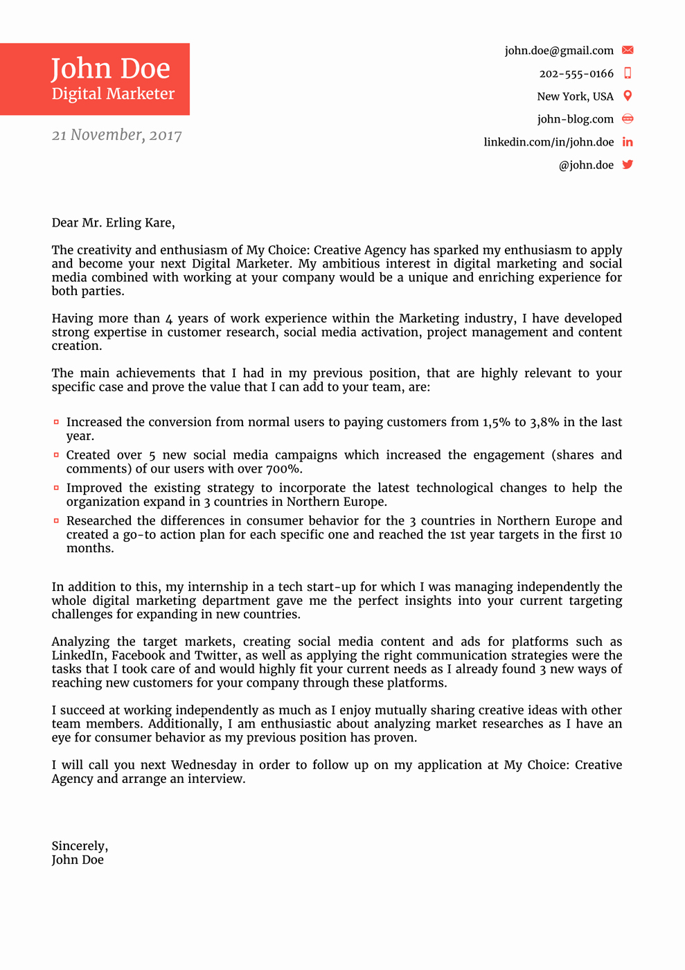 Cover Letter for Employment Luxury 8 Cover Letter Templates for 2019 [that Hr Will Love ]