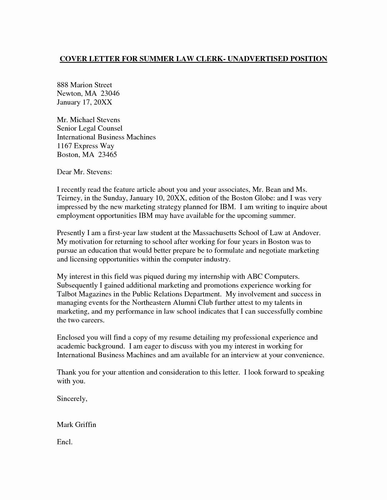 Cover Letter for Employment New Employment Cover Letter Template Wondercover Letter