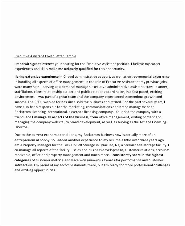 Cover Letter for Executive assistant Elegant 25 Free Executive Resume Templates Pdf Doc