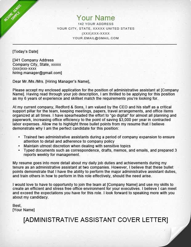 Cover Letter for Executive assistant Luxury Administrative assistant & Executive assistant Cover