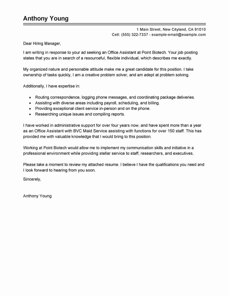 Cover Letter for Executive assistant Luxury Best Store Administrative Cover Letter Examples