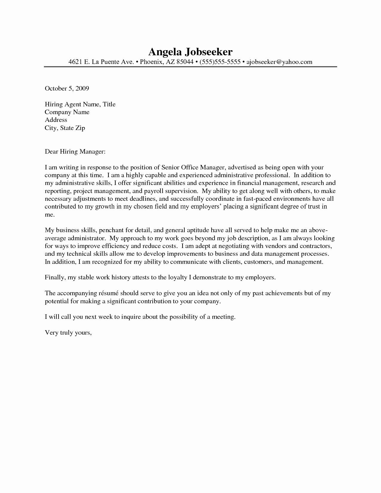 Cover Letter for Executive assistant Unique Administrative assistant Cover Letters 2016