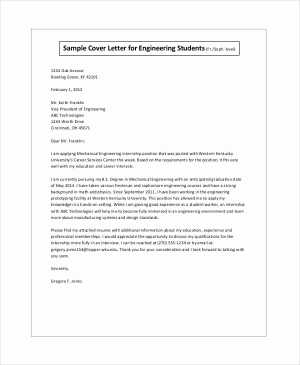 Cover Letter Template for Internship Beautiful Sample Cover Letter for Internship 9 Examples In Pdf Word