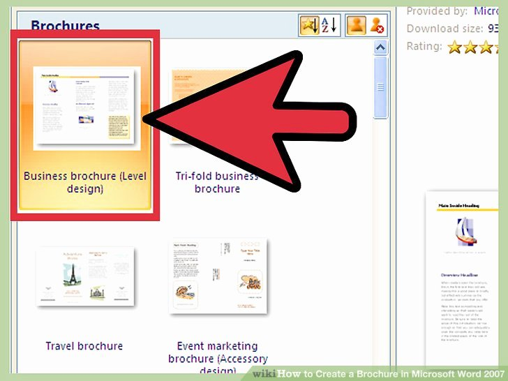 Create A Flyer In Word Awesome How to Create A Brochure In Microsoft Word 2007 with Samples