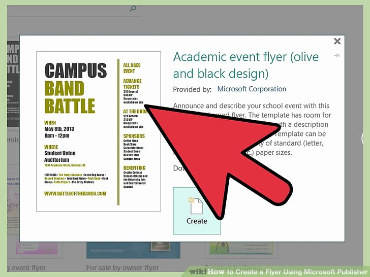 Create A Flyer In Word Awesome How to Create A Flyer Using Microsoft Publisher 11 Steps