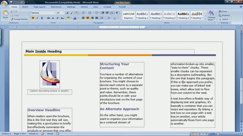 Create A Flyer In Word Beautiful How to Create A Brochure In Microsoft Word 2007