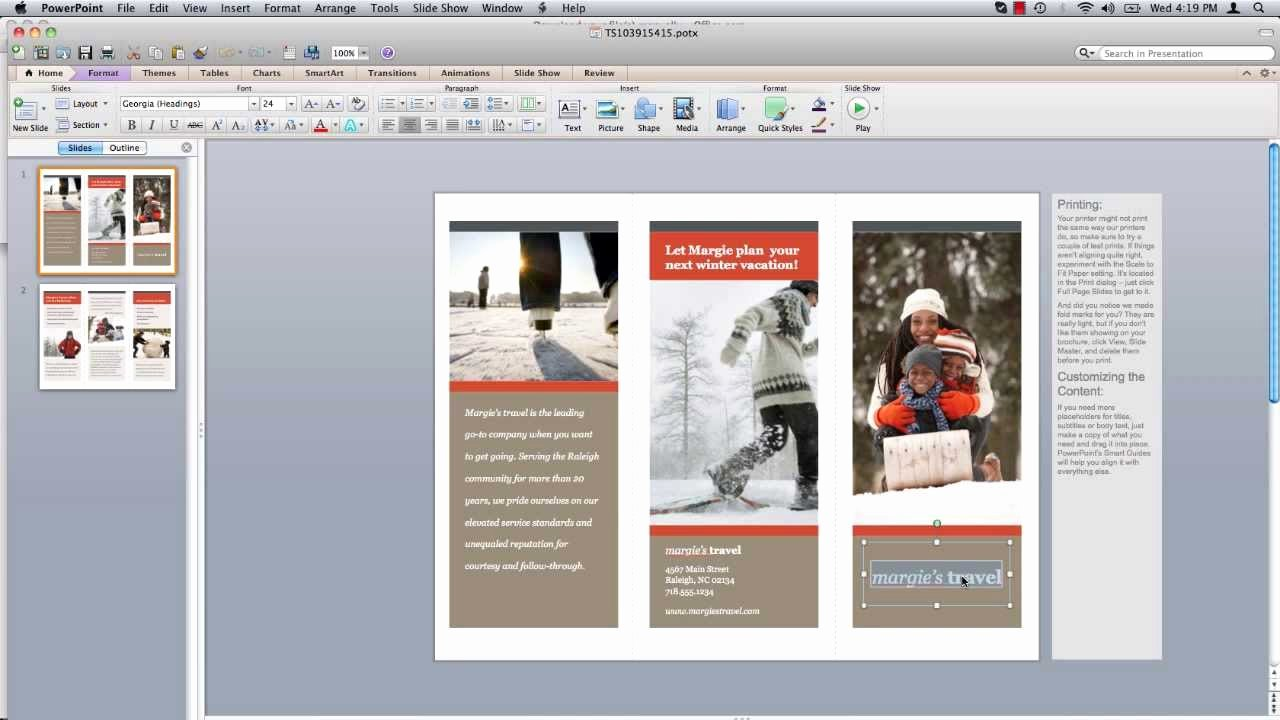 Create A Flyer In Word Beautiful How to Make Powerpoint Brochure