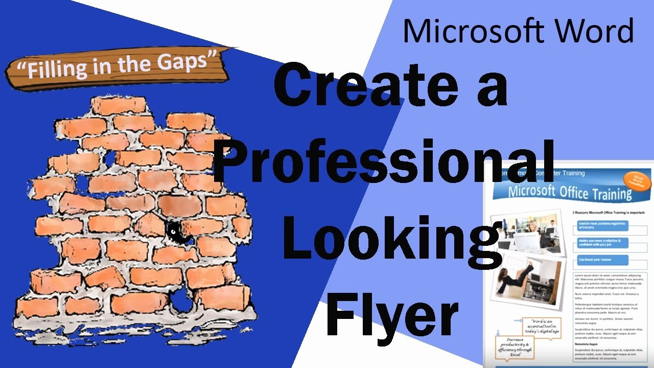 Create A Flyer In Word Best Of Create A Professional Looking Flyer In Microsoft Word