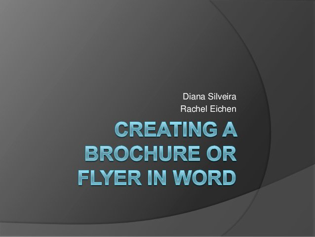 Create A Flyer In Word Fresh Creating A Brochure or Flyer In Word