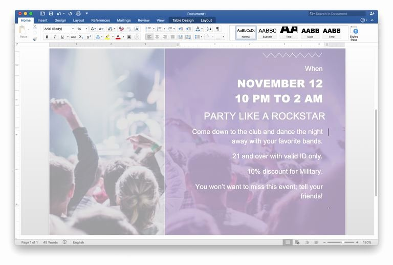 Create A Flyer In Word Lovely How to Make A Flyer On Word
