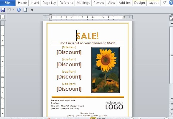 Create A Flyer In Word Unique Sales Flyer Template for Word