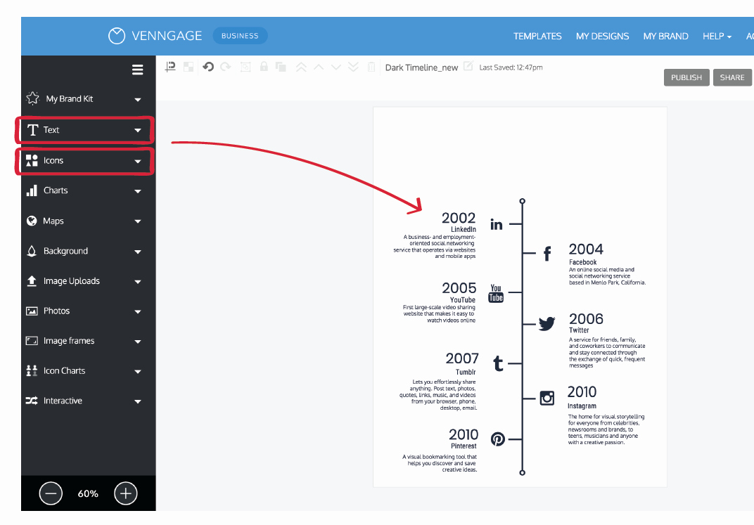 Create A Timeline In Word Inspirational How Do I Create A Timeline Infographic [easy Beginner