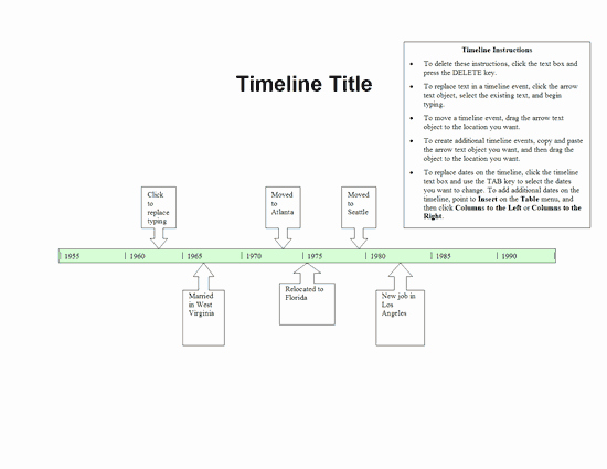 Create A Timeline In Word Lovely Timeline