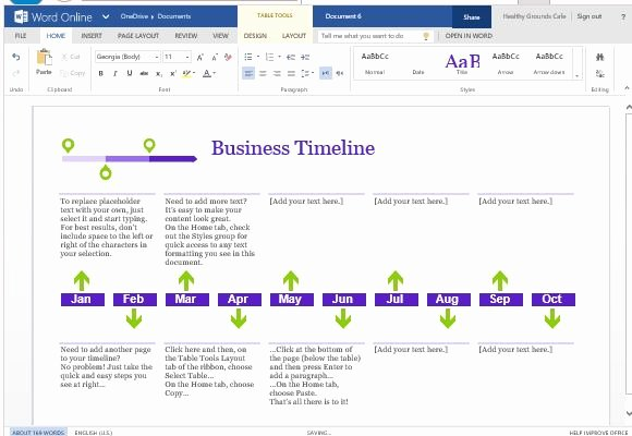 Create A Timeline In Word New Business Project Timeline Template for Word Line