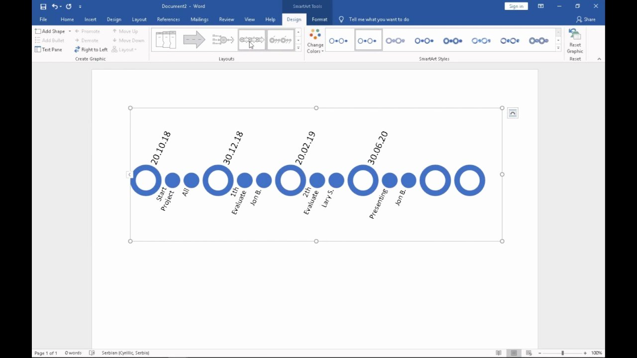 Create A Timeline In Word Unique How to Make A Timeline In Ms Word 2016 Wordtricks