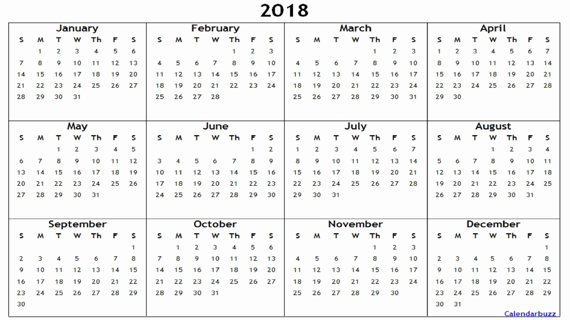 Create Calendar In Word Awesome 2018 Yearly Calendar Printable Word