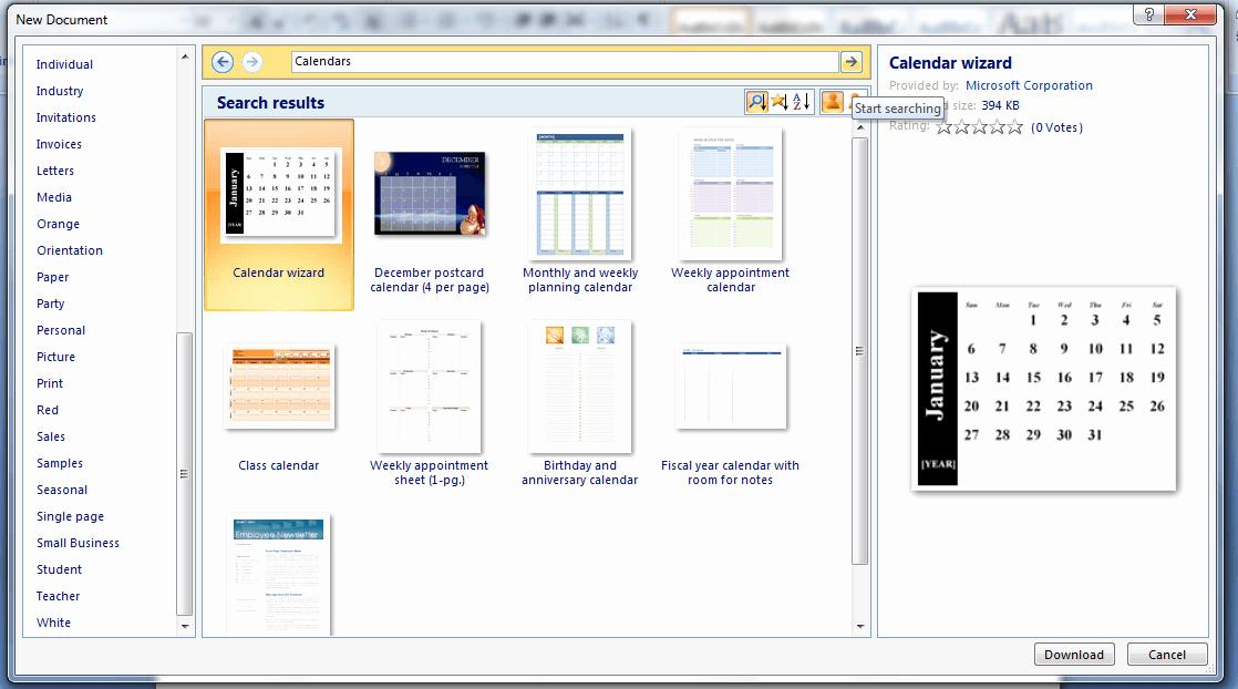 Create Calendar In Word Beautiful How to Create A Custom Calendar In Ms Word 2007 [guide