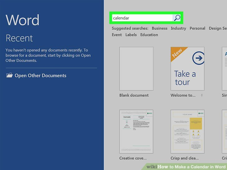 Create Calendar In Word Beautiful How to Make A Calendar In Word with Wikihow