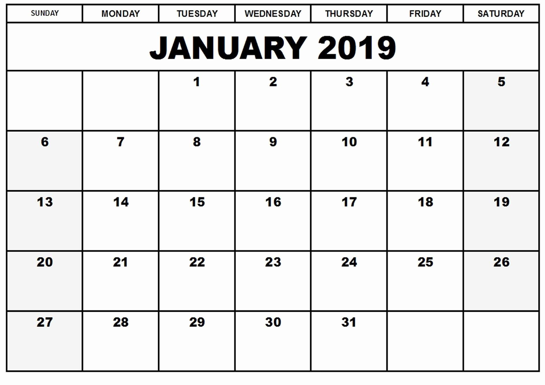 Create Calendar In Word Best Of January 2019 Calendar Word Printable Calendar