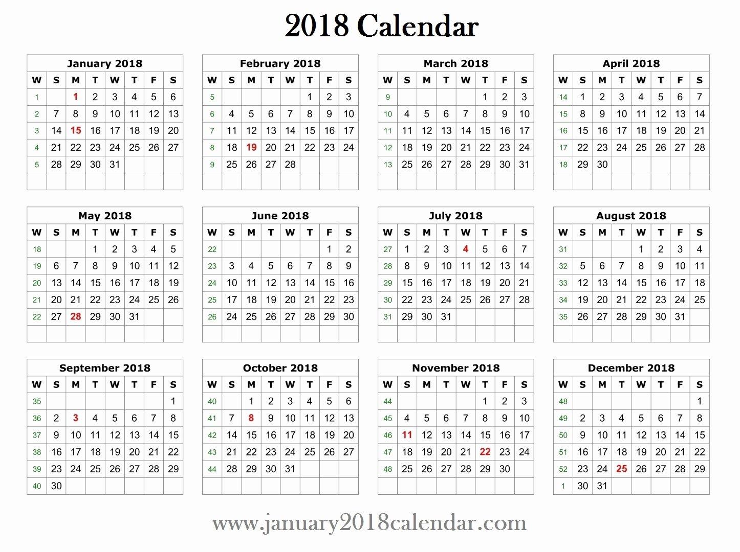 Create Calendar In Word Lovely 2018 Printable Word Calendar Template