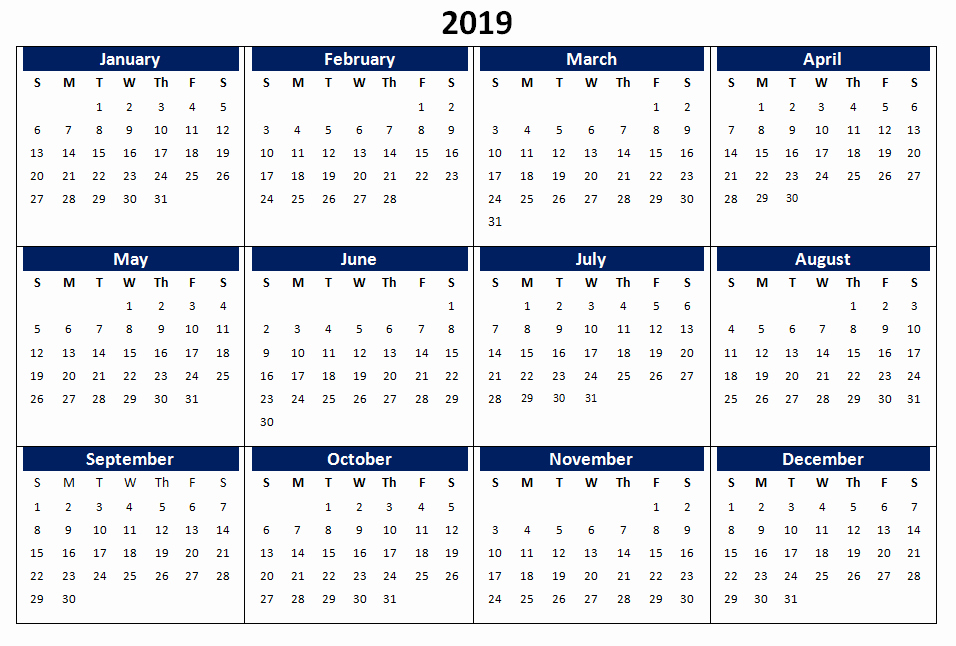 Create Calendar In Word Lovely 2019 E Page Printable Calendar Download
