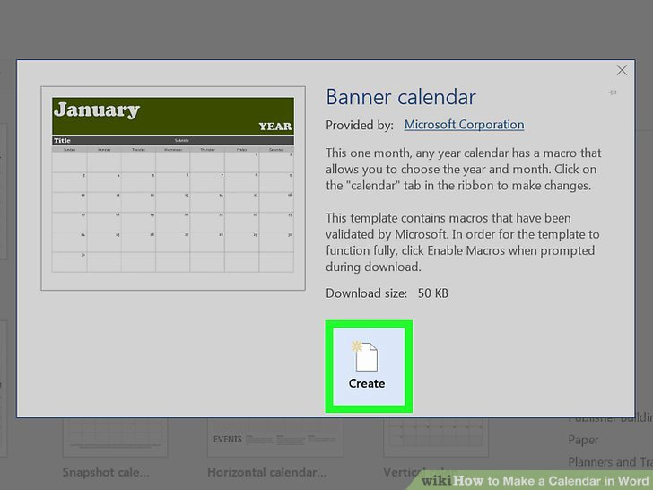 Create Calendar In Word Lovely How to Make A Calendar In Word with Wikihow