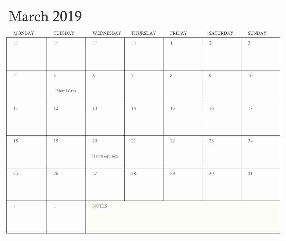 Create Calendar In Word Lovely March 2019 Printable Calendar Word