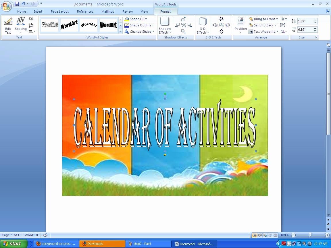 Create Calendar In Word Luxury Steps On How to Make Calendar Of Activities Using