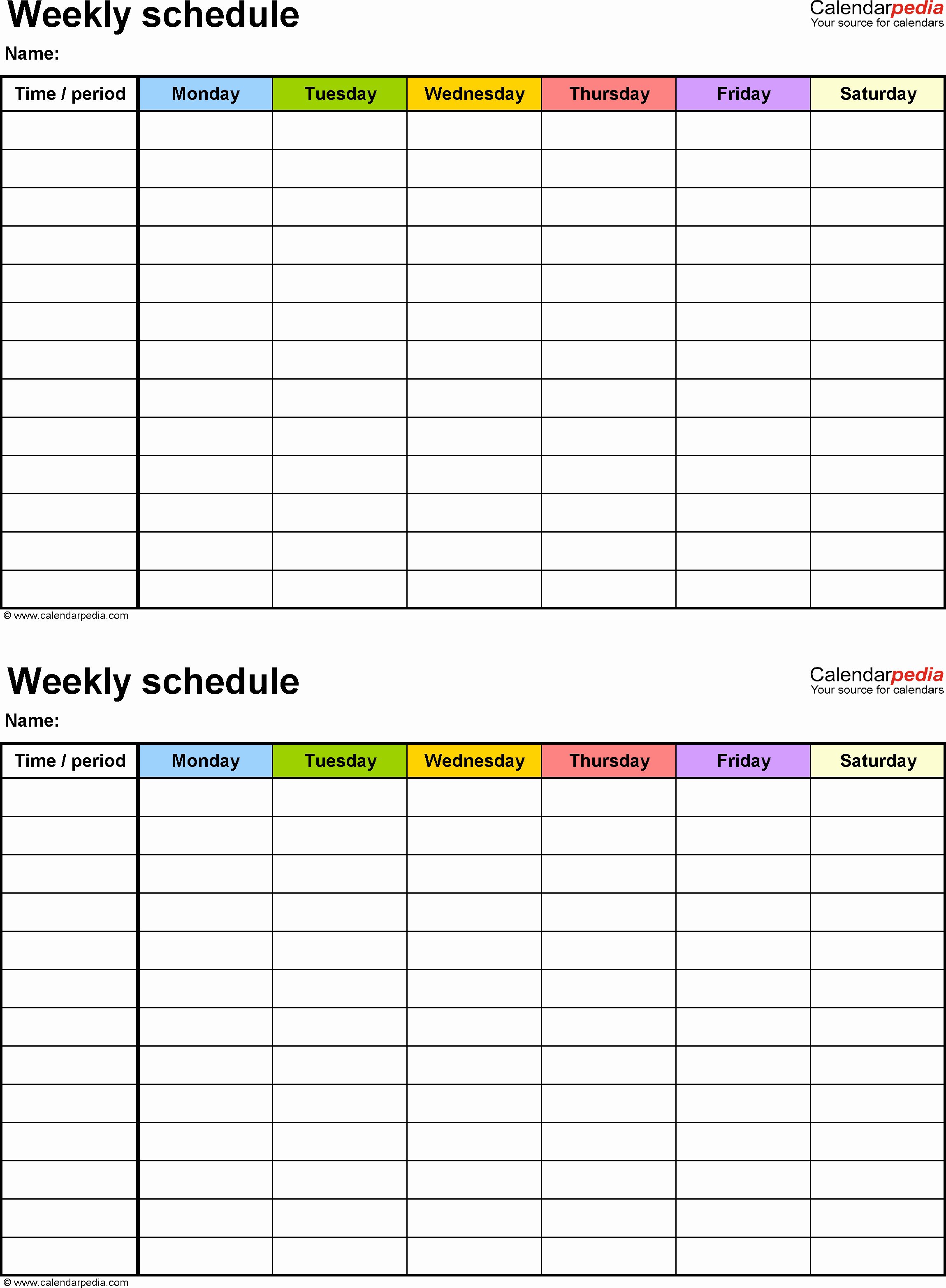 Create Calendar In Word Luxury Weekly Schedule Template for Word Version 9 2 Schedules