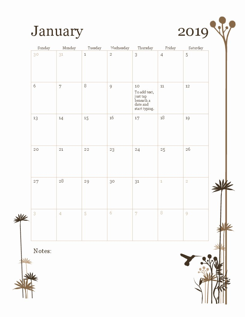 Create Calendar In Word Unique Printable Monthly Calendar In Word