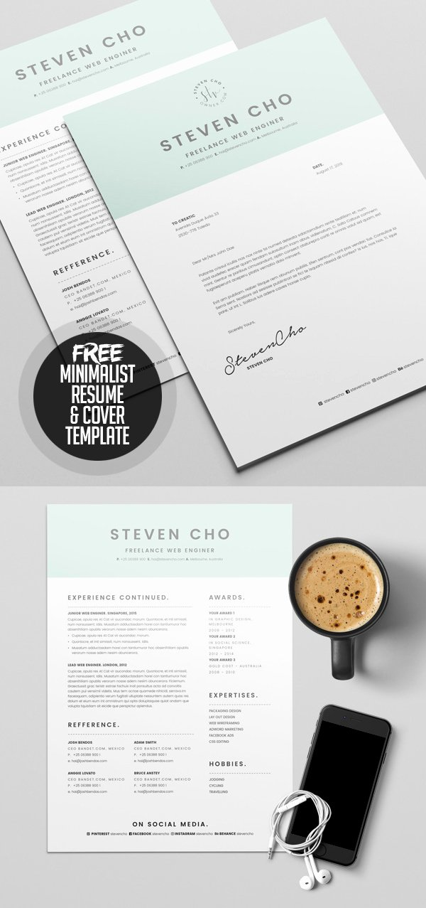 Creative Cover Letter Template Beautiful 23 Free Creative Resume Templates with Cover Letter