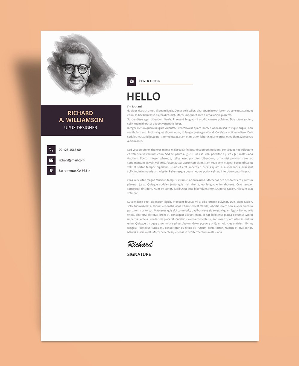 Creative Cover Letter Template Beautiful Creative Cover Letter Design