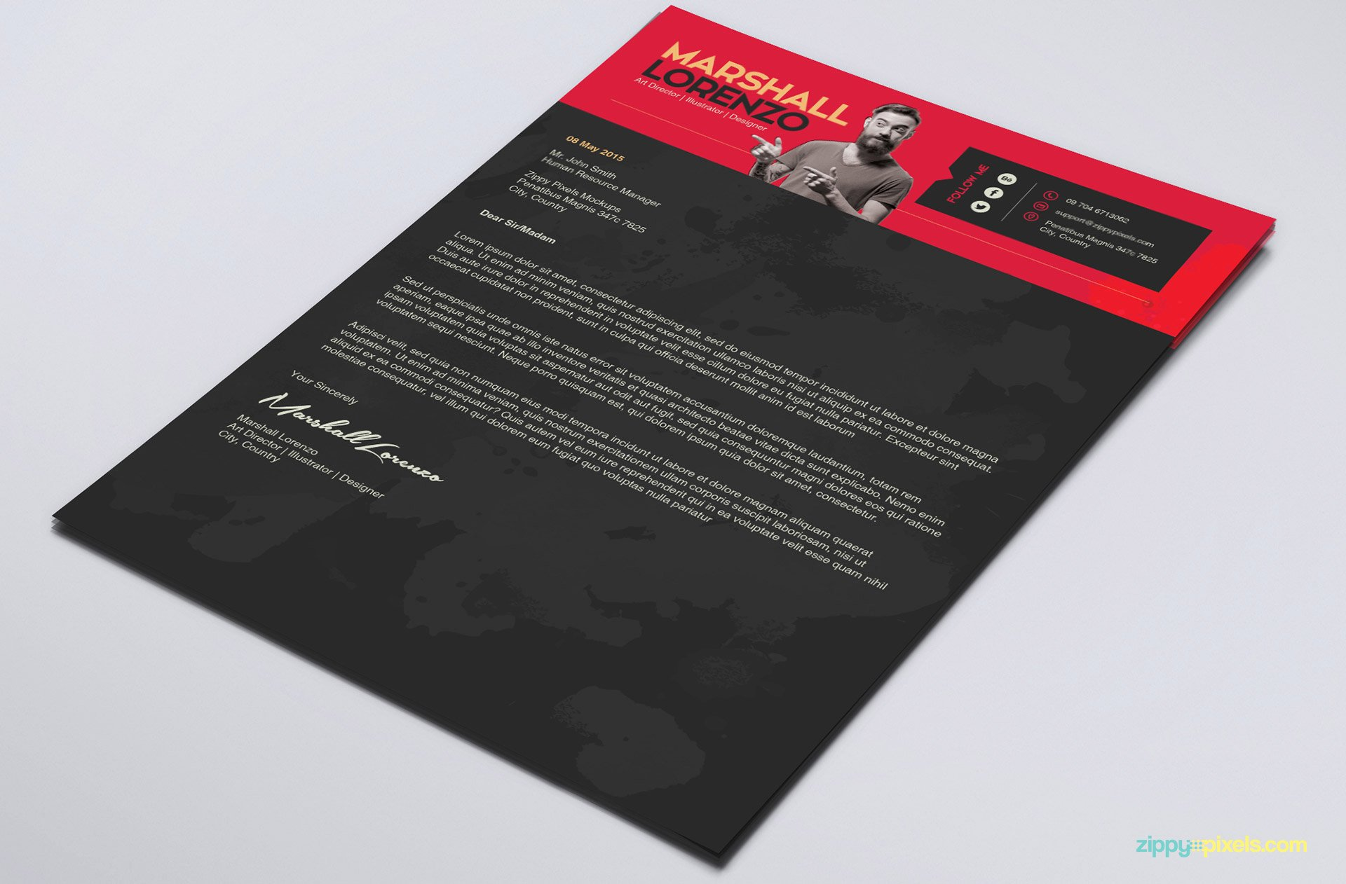 Creative Cover Letter Template Beautiful Creative Illustrator Resume Template for Designers