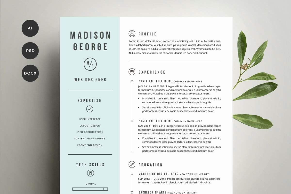 Creative Cover Letter Template Beautiful Resume & Cover Letter Template Cover Letter Templates