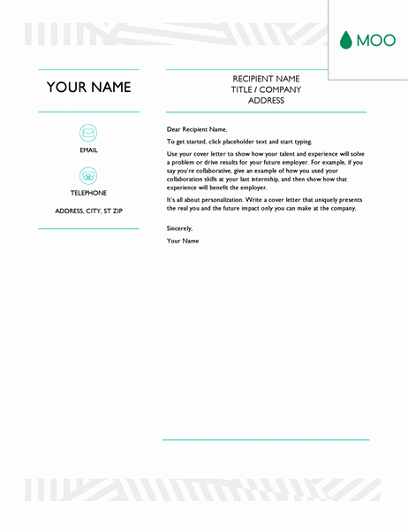 Creative Cover Letter Template Best Of Creative Cover Letter Designed by Moo