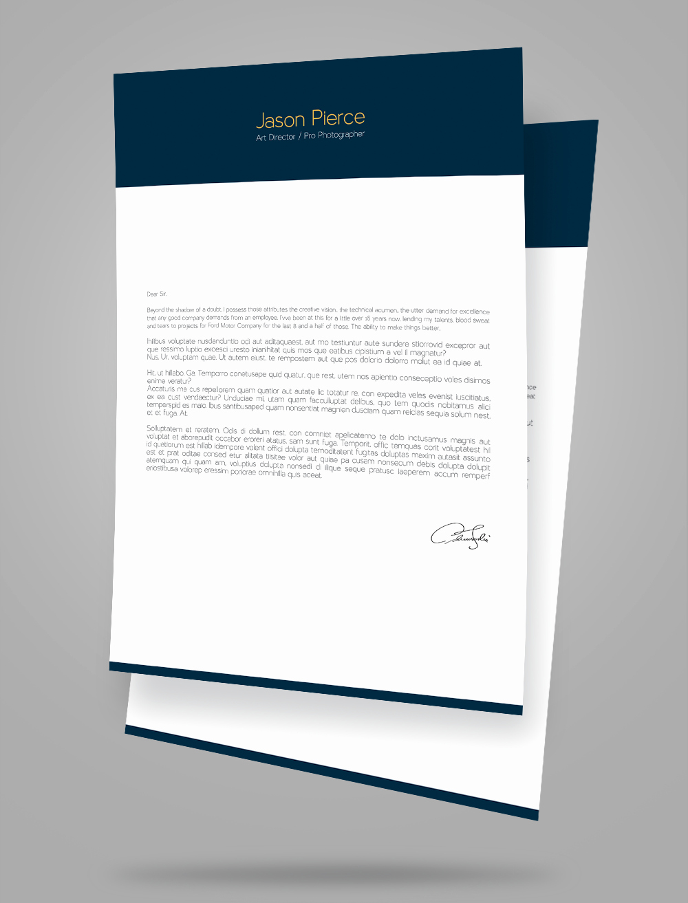 Creative Cover Letter Template Elegant Creative Resume Cv Design Cover Letter Template 4 Psd