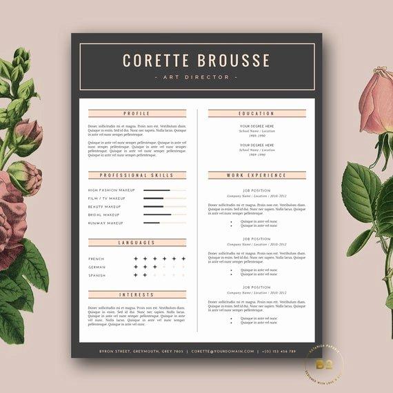 Creative Cover Letter Template Elegant Creative Resume Template Feminine Resume Free Cover Letter