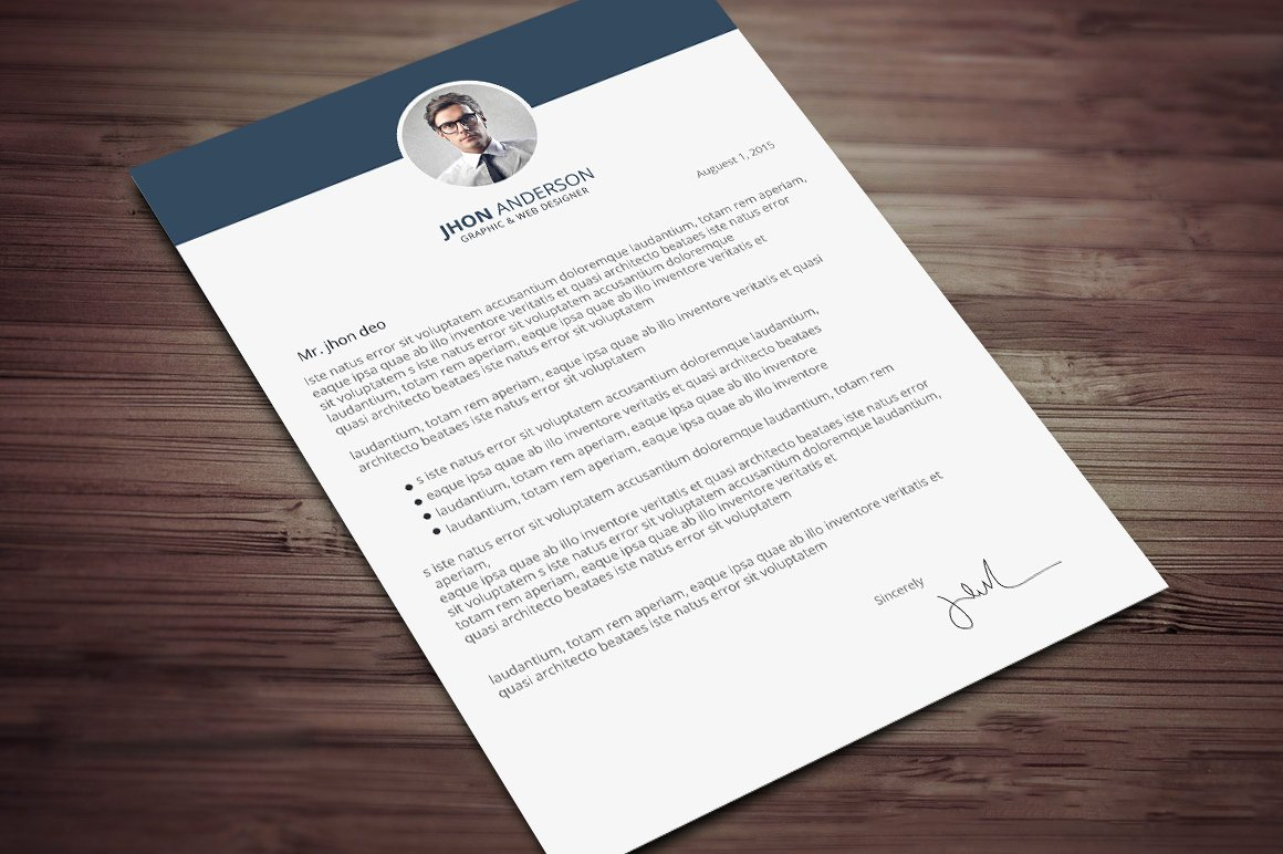 Creative Cover Letter Template Fresh Creative Resume Cv Template with Cover Letter and