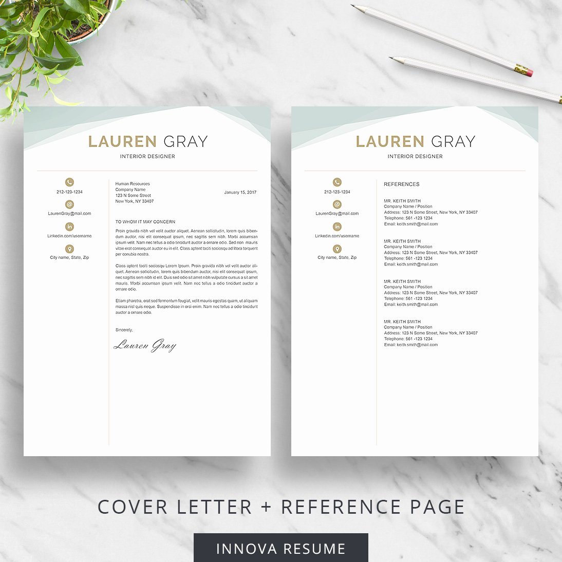 Creative Cover Letter Template Fresh Creative Resume Template Innova Resume
