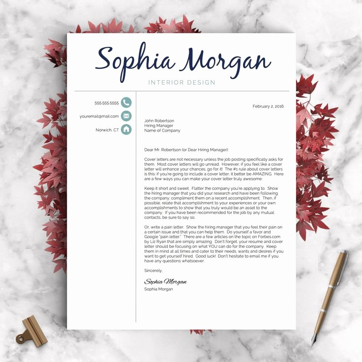 Creative Cover Letter Template Fresh Creative Resume Template Resume for Word and Pages